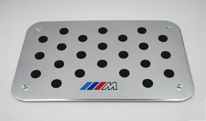 BMW M3 M5 Z4 X5X6의 F10 F30의 E46 E52 E60 E70 E87 E90 1 개 2 3 4 5 6 7 개 시리즈 범용 플로어 카펫 매트 페달 패드 발판 플레이트
