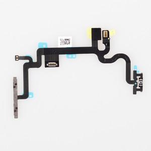 IPhone 7 7G Için orijinal Yeni Yedek 7 7 Artı Güç ON / OFF Düğme Anahtarı Kontrolü Ses Yan Anahtar Flex Kablo Metal parantez ile Ücretsiz DHL