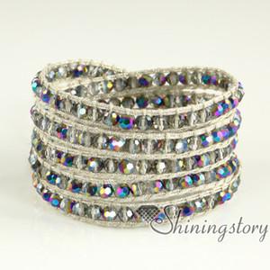 mocuba cords wrap bracelet damenarmbänder wrap jewelry lederperlen coole lederarmbänder