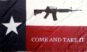 Texas Venez le prendre Drapeau 3ft x 5 pi Polyester Flying Banner 150 * 90cm extérieur de drapeau personnalisé