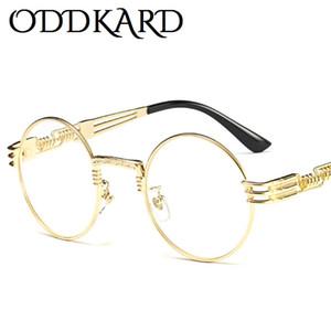 ODDKARD Vintage Lunettes De Soleil Steampunk Pour Hommes et Femmes Marque Designer Rond Lunettes De Soleil De Mode Oculos de sol UV400