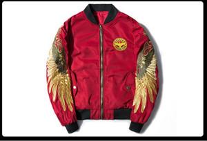 2017 Nova Primavera Mulheres Básico Casaco Bomber Ma1 Jaqueta Piloto Preto Asa de Anjo Bordado Casaco Homens Streetwear Fino Outerwear Casacos