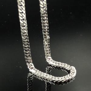 Erkek / kadın çekicilik gümüş 5mm kaldırıma zincir paslanmaz çelik 18-28in kolye