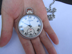 CHP L.U.C LUC alta qualidade 46mm relógio dos homens 2 em 1 DUAL-USO BOLSO + relógio de pulso relógio de bolso relógio mecânico manual de mão relógios de enrolamento