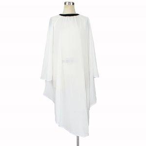1 Unids 100% Tela de Poliéster Color Blanco Salón de Belleza Cabo Peluquería Corte de Pelo Vestido de Corte de Peluquería Antiestático