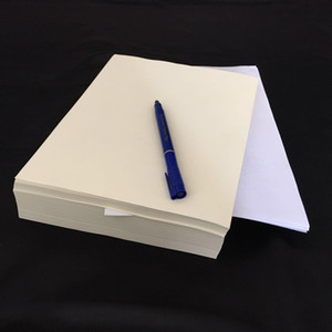 New Pre-order bond printinng paper 100% cotton pass pen test paper with colored fiber waterproof A4 size 85gsm