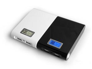 portatile LCD banca di potere 12000mah, libero miglio apple1 samsung2 compressa caricatore USB, torcia, stoccaggio batteria 18560