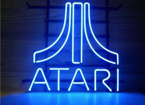 Insegna al neon di esposizione della barra di birra di vetro reale di ATARI di modo 19x15 !!! Migliore offerta!