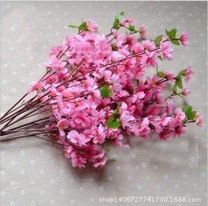 Parti Malzemeleri Küçük Şeftali Şeftali Çiçeği Simülasyon Ipek Çiçekler Yapay Çiçekler Oturma Odası Dekoratif Çiçekler 65 cm Koymak