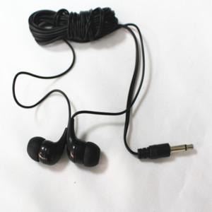1000 stücke Groß einweg earbud schwarz kopfhörer Kostengünstige mono earbuds kopfhörer für schule libray, turnhallen, spa