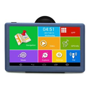 Android 7 inç Araba GPS Navigasyon Navigator WIFI Bluetooth AVIN Dört çekirdekli Kamyon Araç GPS Navitel Rusya / Avrupa 8 GB Ücretsiz Haritalar