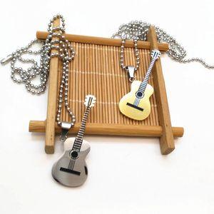 Гитара Ожерелье Для Женщин Музыкальные Ювелирные Изделия Подарок Новые Модные Стальные Музыка Ожерелье Мужчины
