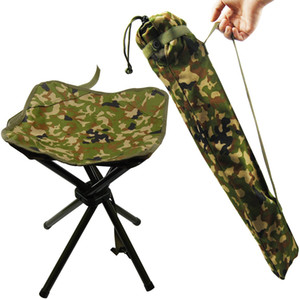 Portable Folding Stool backpacking gear Camping Lightweight Stool Chair Heavy Duty Camouflage for Fishing Hiking Picnic Mountaineering BBQ
