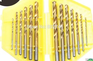 13 PCS Metric System Durable Titanium Quick Change Twist Drill Bits Set Tools Drilling With Case