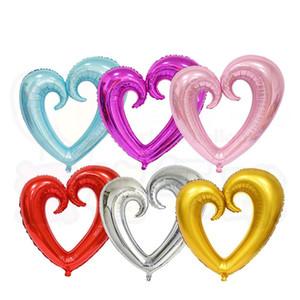 New10Pcs / lot ballons en aluminium, ballons à hydrogène, ballons de dessins animés, mariage ballons de fête d'anniversaire, le nouveau cœur de Gogo de 43 pouces