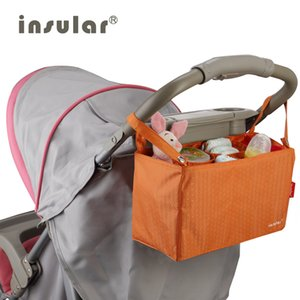 Bolso de Nylon Impermeable Insular Impermeable Bebé Bolsa de Cochecito Bolso Mommy Bag