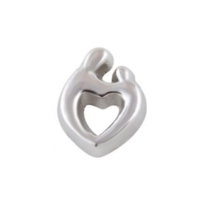30pcs lot good quality 2017 type mom and son heart alloy floating charms DIY for momery glass lockets