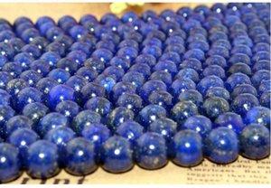 Vente chaude en cristal naturel Lapis Lazuli perles en vrac 8mm perlé DIy bijoux collier bracelet accessoires matériel doux bijoux drop shipping