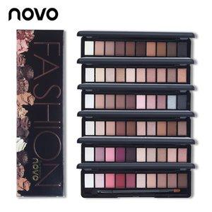 NOVO Marka Moda 10 Renkler Pırıltılı Mat Göz Farı Makyaj Paletleri Işık Göz Farı Paleti Doğal Makyaj Kozmetik Fırça Ile Set
