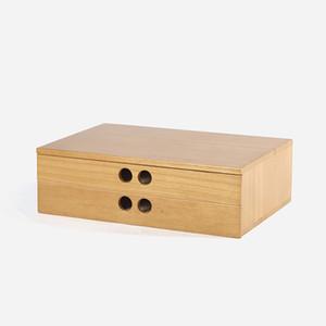 A 4 caja de gabinete de herramientas de papel Escritorio de madera cajón de almacenamiento basura caja de almacenamiento de cosméticos bin joyería oficina Regalo creativo Inicio
