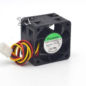 원래 Sunon PMD1204PQB1-A 4cm 4028 12V 4W 1U2U 서버 팬 빅 파워 서버 냉각 팬 3 라인