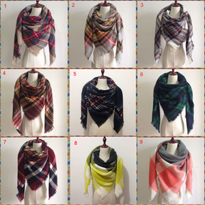 2017 Le donne ricoprono sciarpa oversize Cozy Tartan nappa sciarpa del nuovo involucro dello scialle griglia Controllare cachemire di Pashmina acrilico Lattice collo plaid Stole