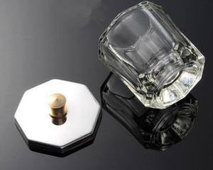 صحن Dappen من الزجاج الكبدي مع كأس Lid Bowl صحن من الزجاج Crystal Nail Art Tools أكريليك لمعدات فن الأظافر Mini Bowl Cups
