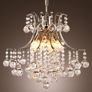 Moderna araña de cristal contemporánea con 6 luces, lámpara colgante Moderna lámpara de techo para el dormitorio, sala de estar Comedor del pasillo