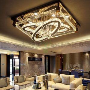BE50 простой современный творческий прямоугольный потолочный светильник овальные светодиодные лампы Кристалл гостиная ресторан спальня отель потолочные светильники Освещение