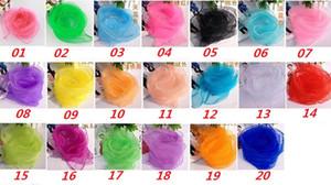 60 * 60cm 70 * 70cm kleine quadratische Schals nachgemachter Seide Chiffon- Normallack-Tanz-Erscheinen-neue Süßigkeits-Farben-windundurchlässige Frauen-Schals 20 Farben