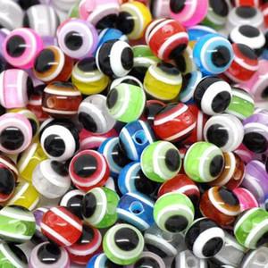 Evil Eye Beads 200pcs / lot Good Loose Beads para hacer collares pulsera 8mm Evil Eye cuentas de resina de cristal de resultados de la joyería