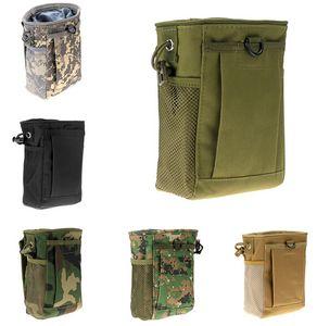 Molle Munição Bolsa Tático Arma Revista Dump Drop Reloader Bag Utilitário para Caça Rifle Magazine Bolsa