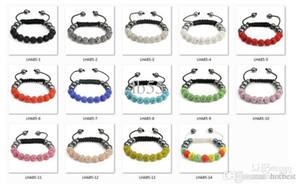 o5643 mieux! Hot 14 couleur mixte Micro Pave CZ Disco10mm boule perle de haute qualité Micro Pave cristal femmes Shamballa Bracelet bijoux o53532 W62