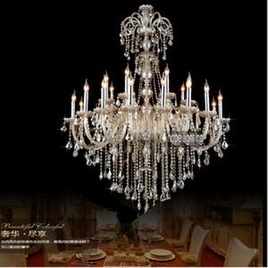 Lüks Avrupa Tarzı Aydınlatma Büyük Kristal Avizeler Çağdaş kristal aydınlatma büyük otel ziyafet salonu kristal avize ışık