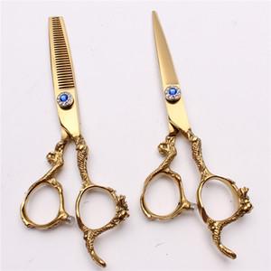 """C9003 6 """" 440C настроить логотип золото профессиональные человеческие волосы ножницы парикмахерские ножницы парикмахерские ножницы резки истончение ножницы салон стиль инструменты"""