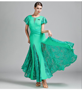 2018 Nouveau 3 couleurs vert robe de bal femme valse de salon robes de danse de salon vêtements rouge espagnol robe de flamenco frange vêtements de danse