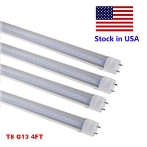 LED 18W pieds 4 détaillants / en gros 4 Tube de couverture Tubes FT Ampoules LED Tubes 4FT Lumières Clear Fixture G13 120V 28W Éclairage 22W VNXFF