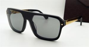 Großhandel klassische Modedesigner-Sonnenbrille 00466 quadratischen Rahmen Verbindungsscheiben-Goggles populäre Avantgarde einzigartigen Stil hochwertige uv400