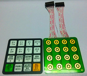 Yeni DSP Kontrol Kolu paneli RichAuto 0501 / A11 / A15 / A18 anahtar-basın / kabuk / PCB ekran için cnc router parçaları