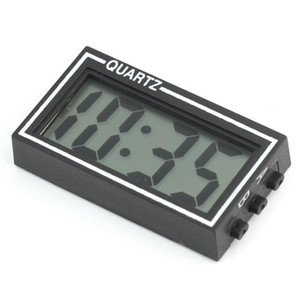 Wholesale-New Arrival High Quality Small Digital LCD Car Dashboard Desk Date Time Calendar Clock with Double-sided tape