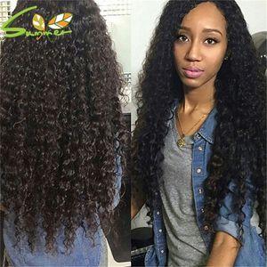 Side Part Glueless Full Lace Human Hair Wigs Wavy Lace Front Wigs Unprocessed Virgin Brazilian Deep Wave For Black Women