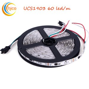 UCS1903 LED Strip 60led m SMD 5050 Smart full-color strip light Dream Color Changeable Effects Waterproof White PCB DC12V