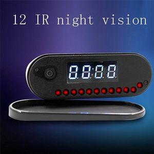 1080P P2P WIFI Clock mini telecamera IP 160 grandangolare notte tabella di visione dell'orologio DVR Network videosorveglianza wirless Baby Monitor