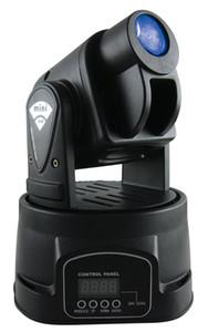 Led 3IN1 15W mini led spot luz principal móvil Mini luz principal móvil 15W DMX dj 10 gobos efecto luces de la etapa / ktv bar disco