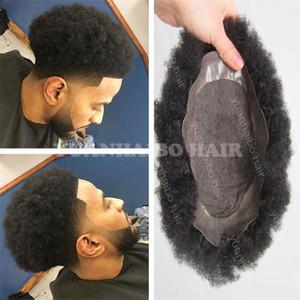 AFRO TOUPEEE Mens Wig Top Продажа черных волос Индийские короткие волосы AFRO Kinky Curl Topee для черных мужчин Бесплатная доставка