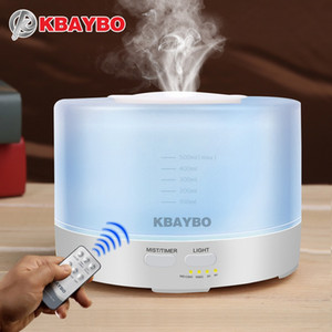 Humidificateur ultrasonique à télécommande d'arome d'air 500ml avec le diffuseur électrique d'arome d'huile essentielle d'Aromatherapy de 7 lumières de LED