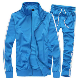 Moda Mens Sportswear Hombre Casual Sudadera Hombre Marca Sports Suit Hombres Ocio exterior con capucha chándal envío gratis