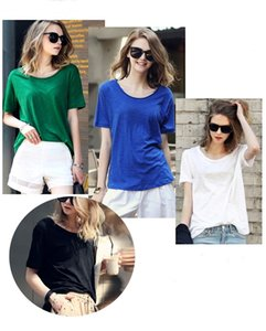 2017 Summer plus size Casual T Shirts for fat ladys Clothing XL-5XL T Shirt with 4 colors free shipping
