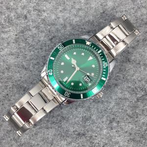 2017 Yeni Moda Erkekler Büyük Izle Yeşil Paslanmaz çelik Yüksek Kaliteli Erkek Kuvars saatler Adam Marka Kol Saati Gümüş / Altın Ücretsiz kargo