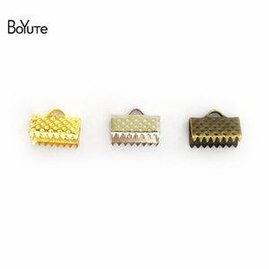 BoYuTe 200pcs 7 Größen Band Schnur Endklemmen Cap Crimps Perlen Clips, Schnalle, Befestigungsteile, Verschluss Diy Schmuckzubehör Komponenten